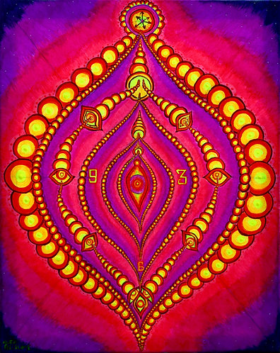 """Tempus Vagina"" Original Neon Visionary Painting"