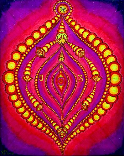 """""""Tempus Vagina"""" Original Neon Visionary Painting"""