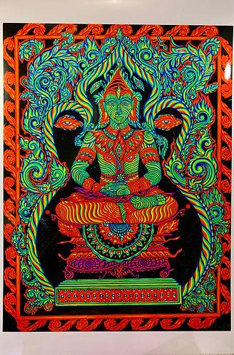 "Metallic Paper Art-Print: ""Arhat"""