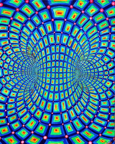 """The Torus"" Original Neon Visionary Painting"