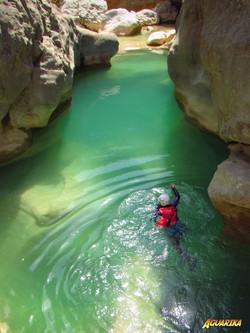 nage canyoning sierra de guara