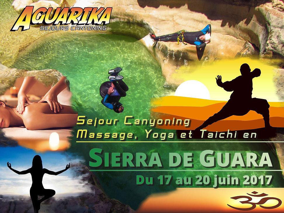 sejour canyoning massage yoga