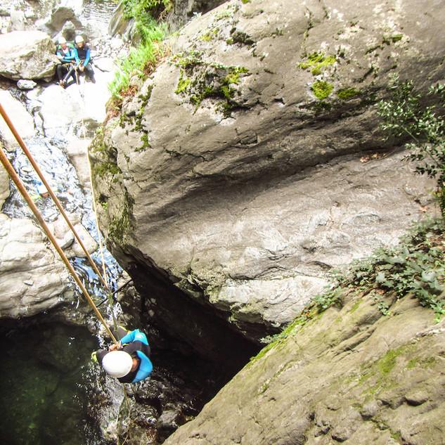 canyoning en eau chaude