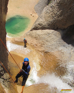 rappel canyoning sierra de guara