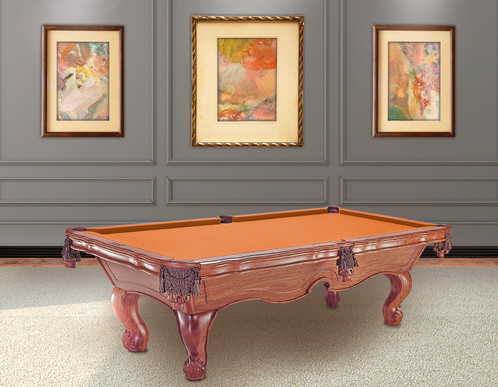The Addison Pool Table Is Made From Solid Teak Wood And Is Available In 8u0027.  The Rails Are Wide And Have Scalloped Edges For An Upscale Feel.