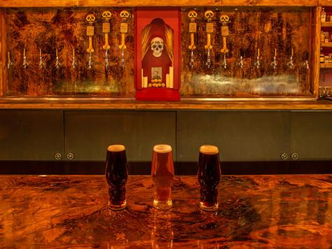 Craft Brews on the Bone Haus Copper Bar