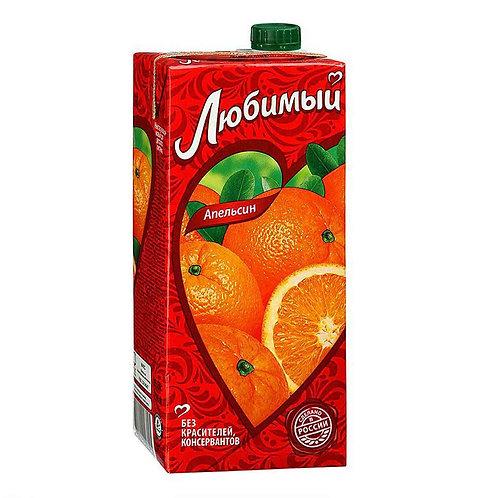Сок/нектар Любимый апельсин 1л