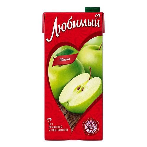 Сок/нектар Любимый яблочный 1л