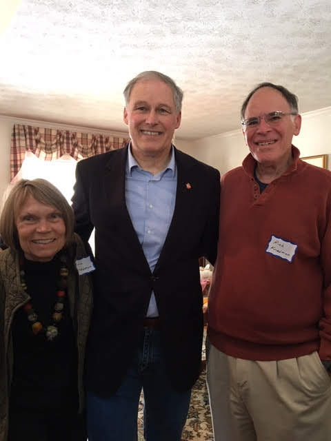 Ann and Rich hosted Governor Inlsee