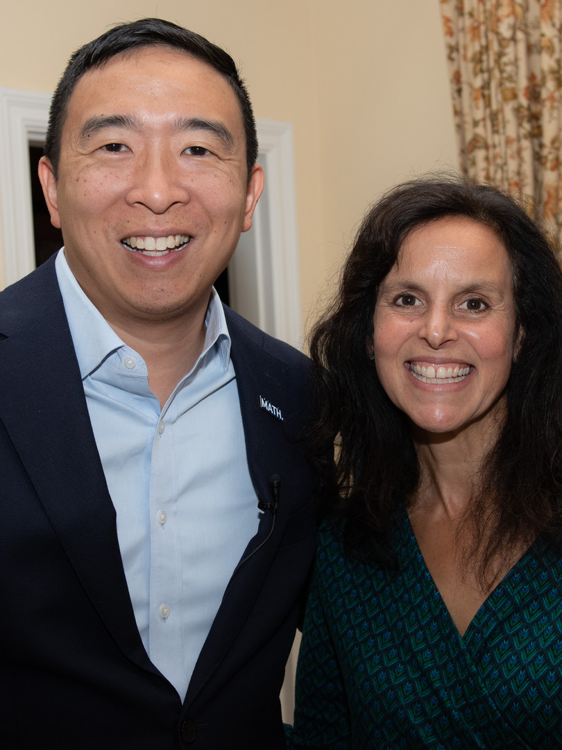 Presidential Candidate Andrew Yang with Host Susan