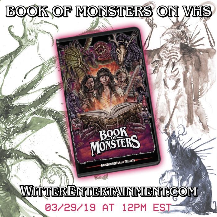 Book of Monsters VHS Broke Horror Fan