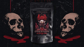 """Pitch Black North Teams With Bloodbath for """"Ominous Blood Vomit"""" Tea Latte Powder"""