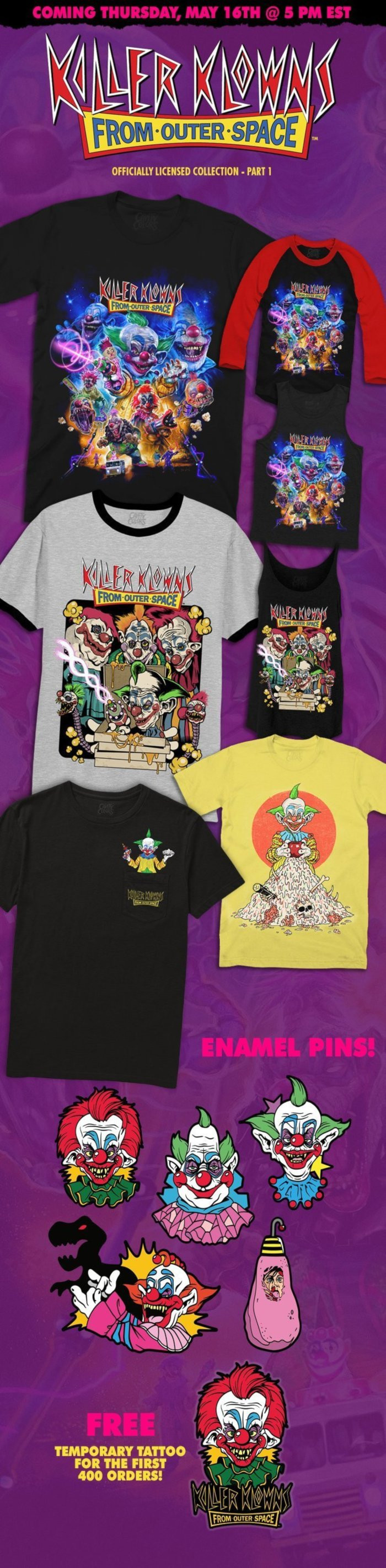 Killer Klowns Cavitycolors Collection