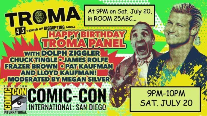 Troma 45th Birthday San Diego Comic Con Panel