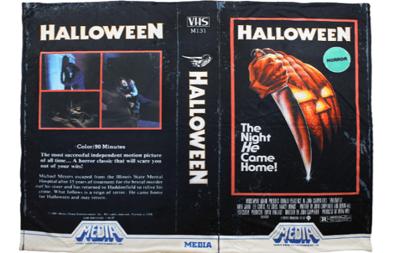 Halloween VHS Blanket Creepy Co.