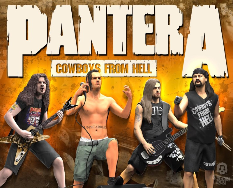 Pantera KnuckleBonz Rock Iconz Statues