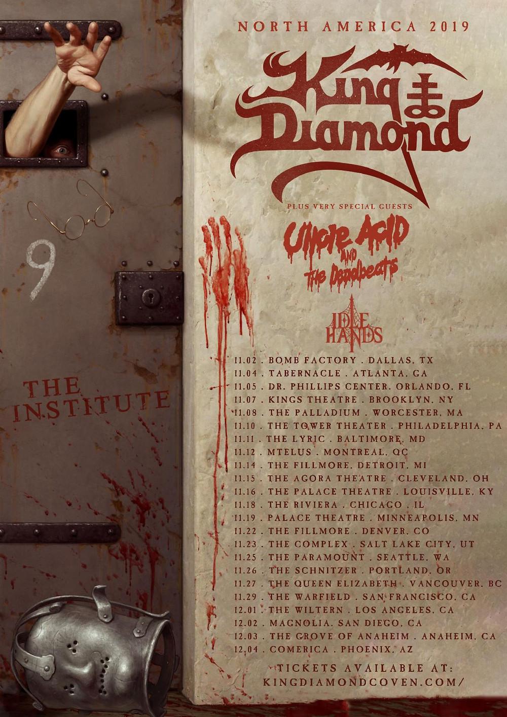 King Diamond Uncle Acid North American Tour