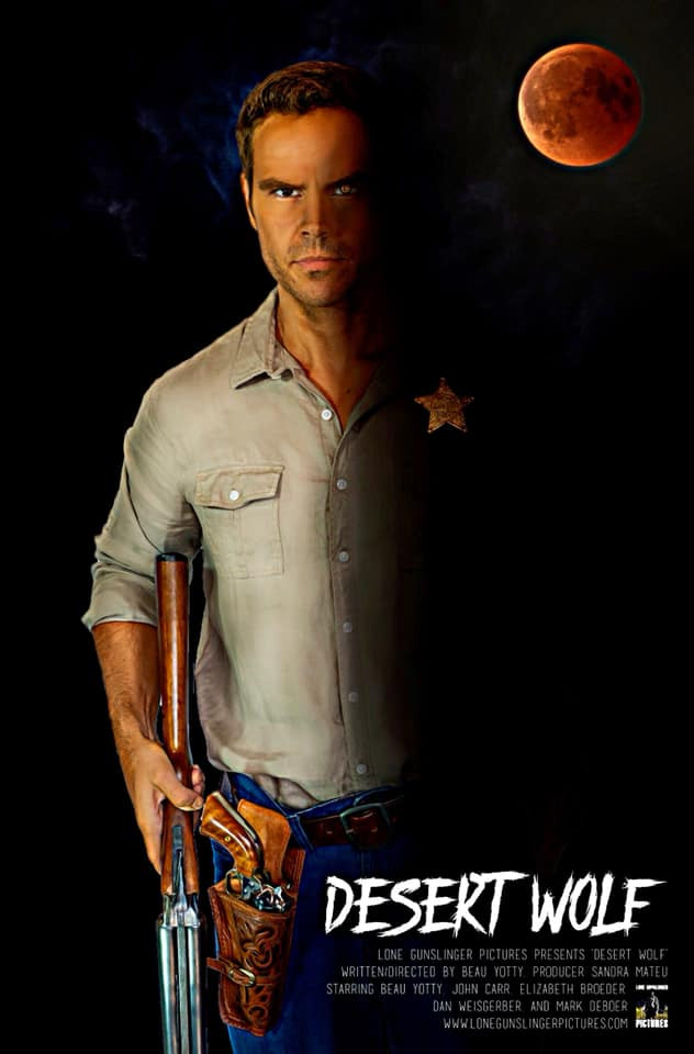 Desert Wolf Poster Lone Gunslinger Pictures