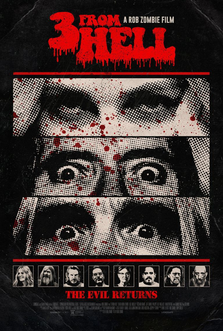 Rob Zombie 3 From Hell Poster
