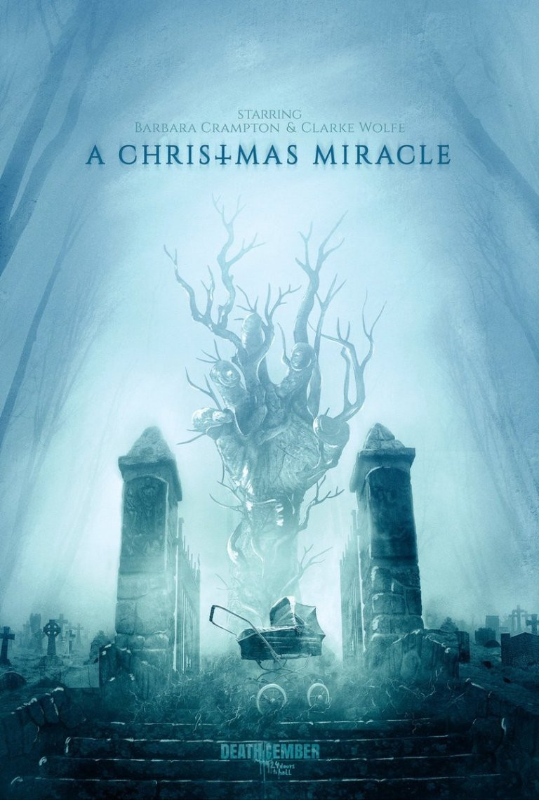 Deathcember A Christmas Miracle Poster Barbara Crampton