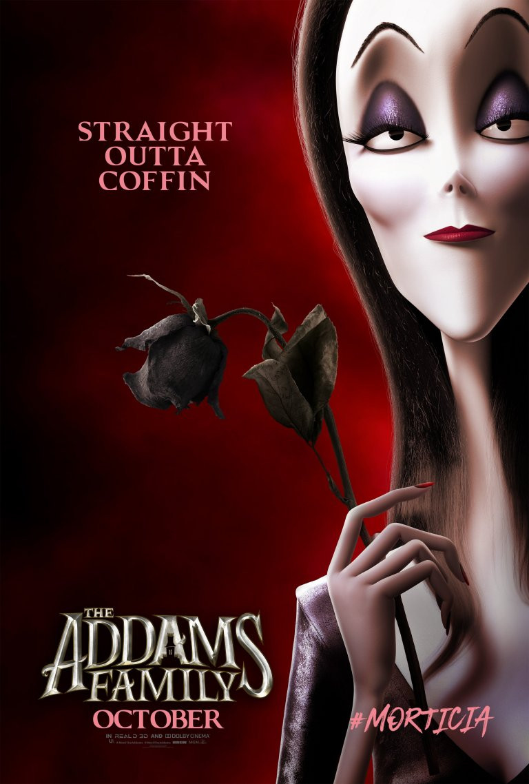 The Addams Family Morticia Character Poster