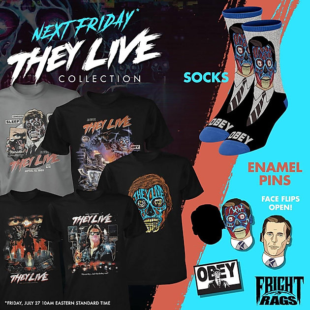 Fright Rags Celebrates 30 Years Of 'They Live' With New