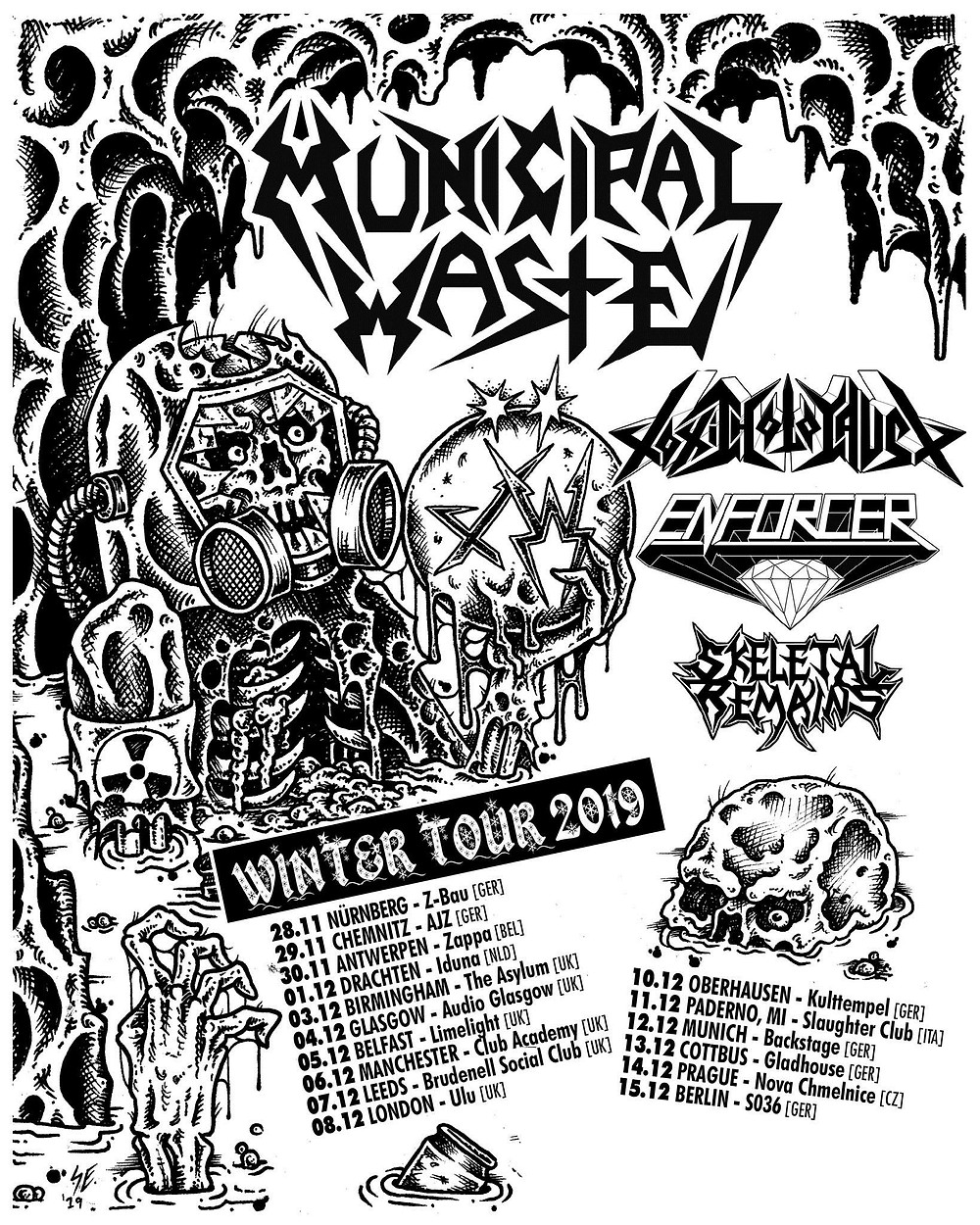 Municipal Waste Tour Toxic Holocaust Winter 2019