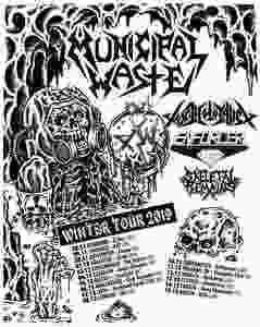 Municipal Waste Tour Toxic Holocaust Winter 2019