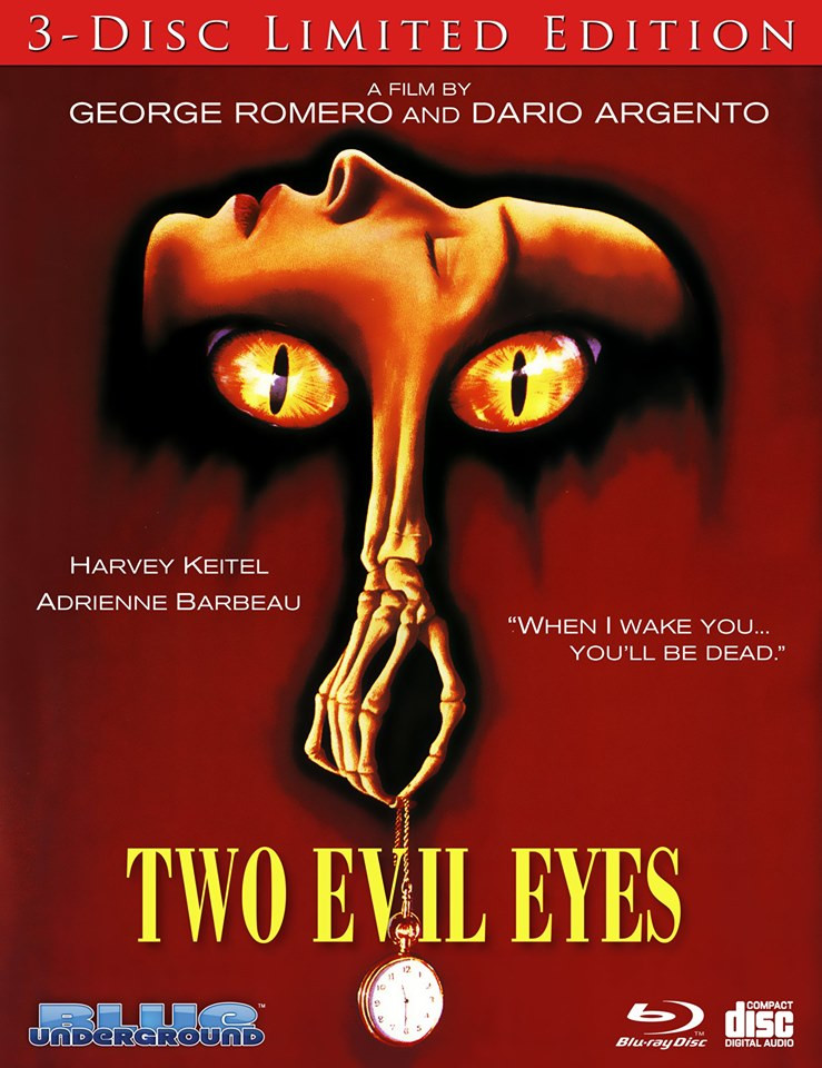 Two Evil Eyes 3-Disc Limited Edition Blu-ray Features