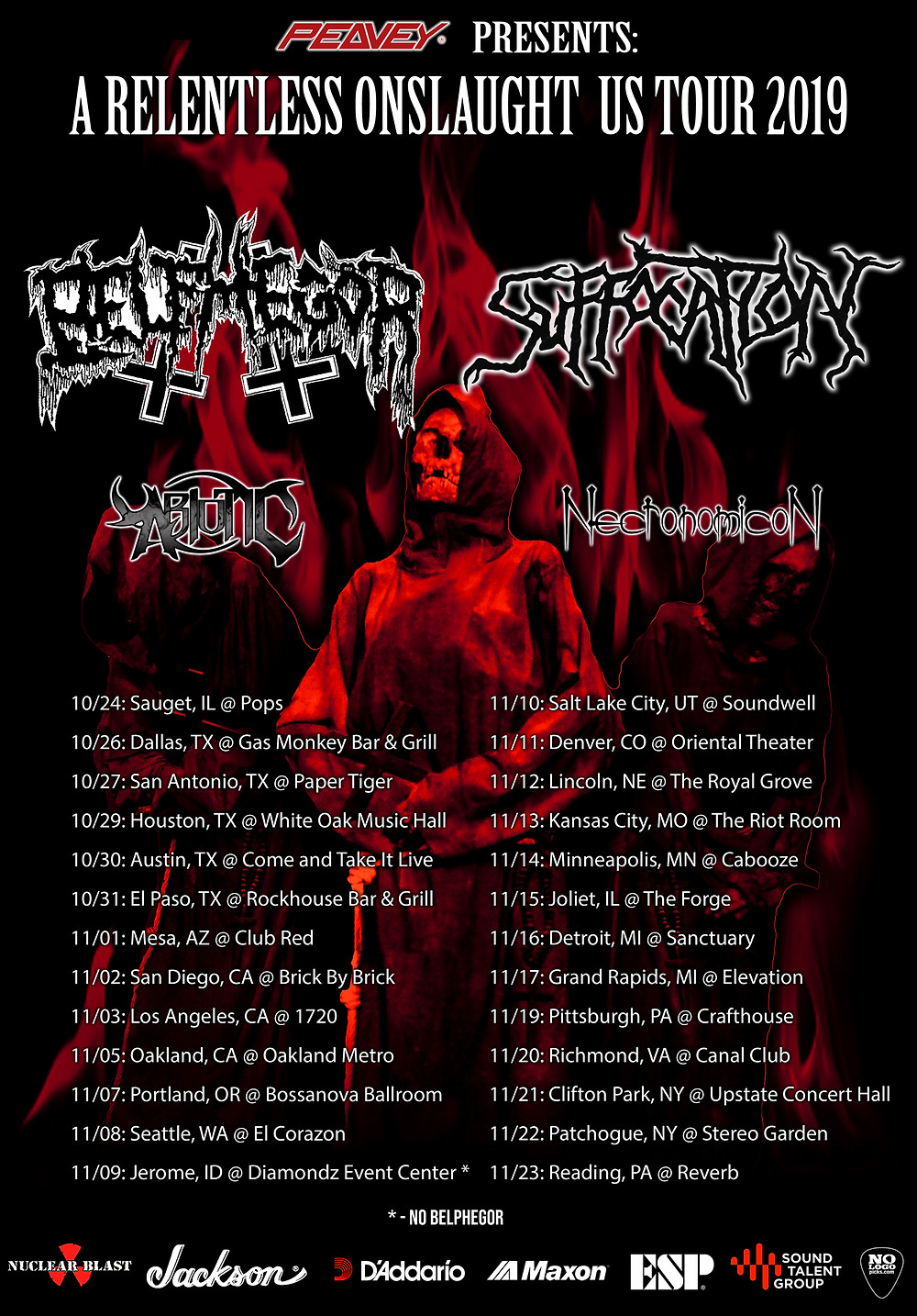Belphegor Suffocation A Relentless Onslaught US Tour 2019