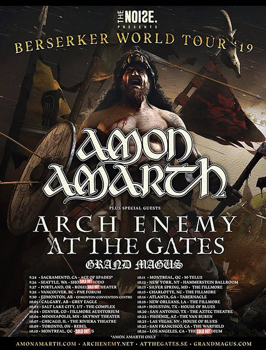 Amon Amarth Berserker World Tour 2019