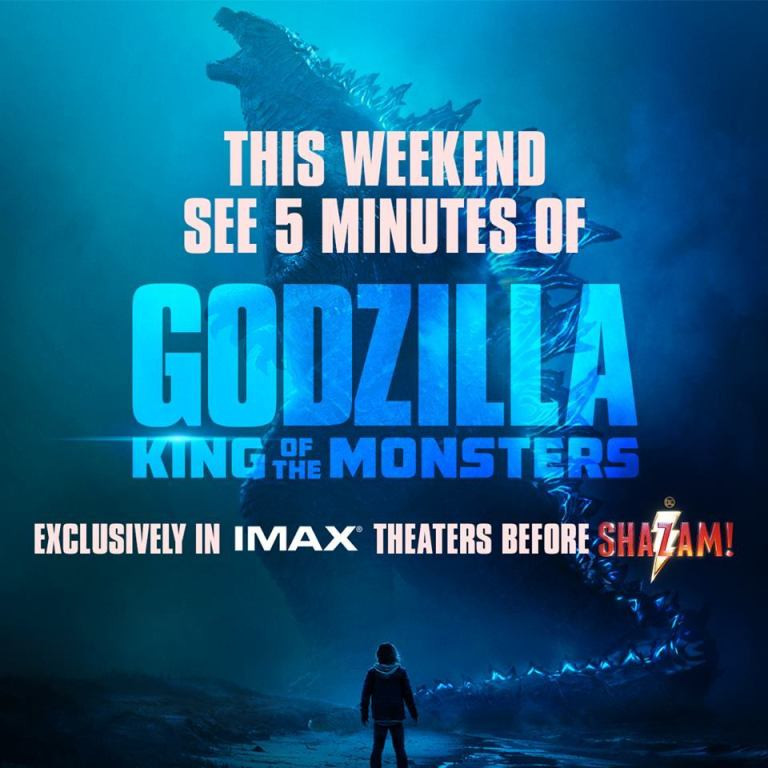 Godzilla King of the Monsters five minutes IMAX Shazam