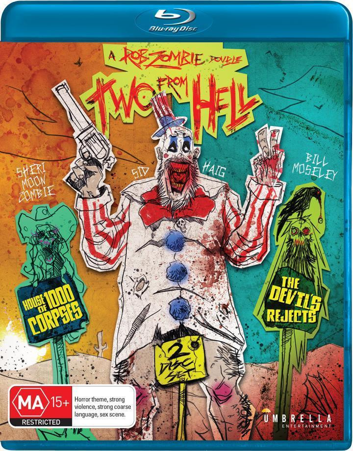 Two From Hell House of 1000 Corpses Devil's Rejects Review Umbrella
