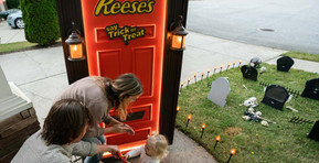 Reese's May Bring Candy to Your Neighborhood This Halloween With Their Robotic Trick- or-Treat Door