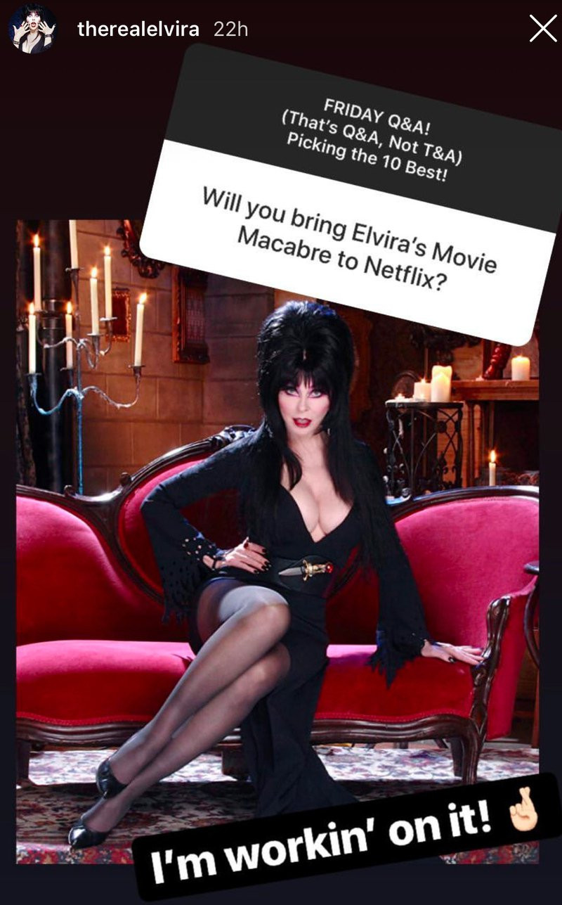 Cassandra Peterson Teases Sequel To Elvira's Movie Macabre Netflix