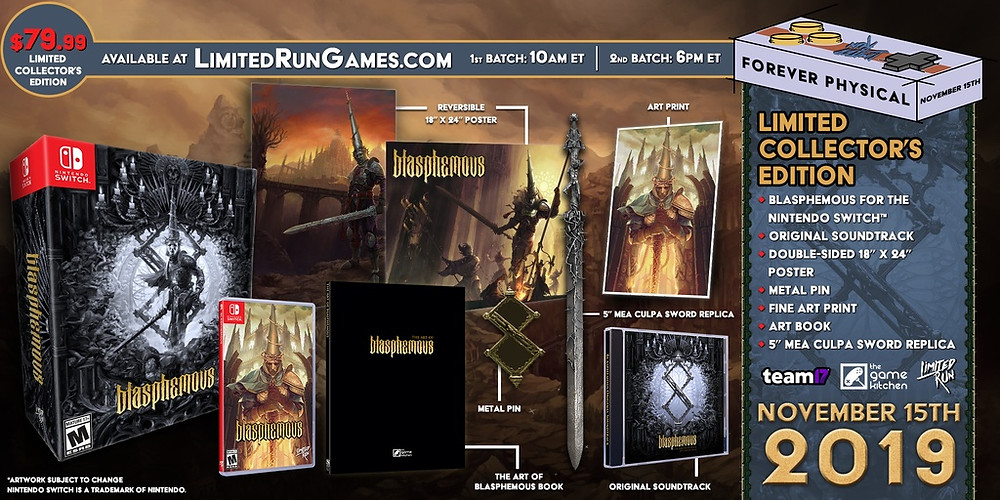 Blasphemous Limited Run Games Collector's Edition