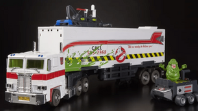 Optimus Prime Joins The 'Ghostbusters' For This SDCC Exclusive 'Transformers' Toy