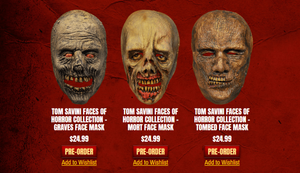 Tom Savini Faces of Horror Masks Pre-order