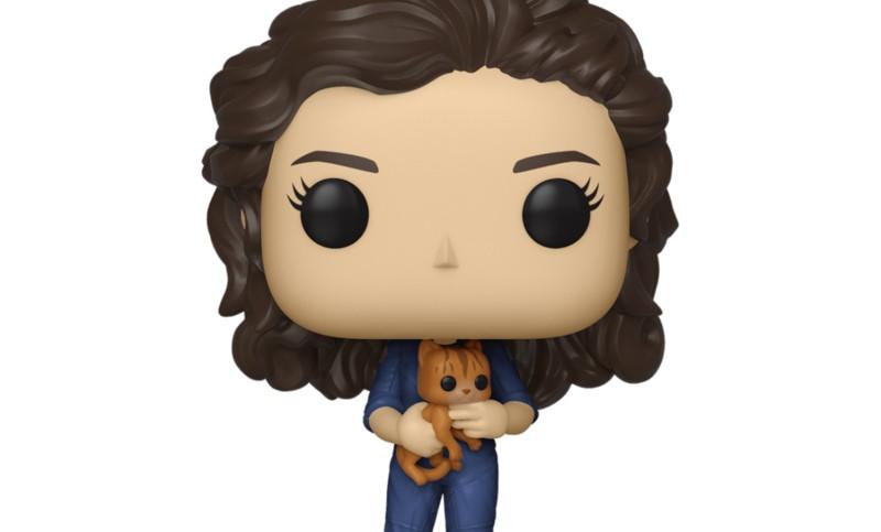 Ripley holding Jonesy Pop Figure Alien Day
