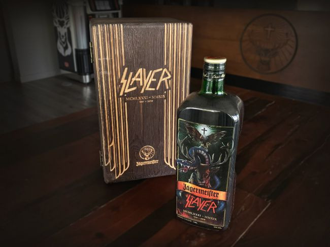 Slayer Jägermeister special edition bottle