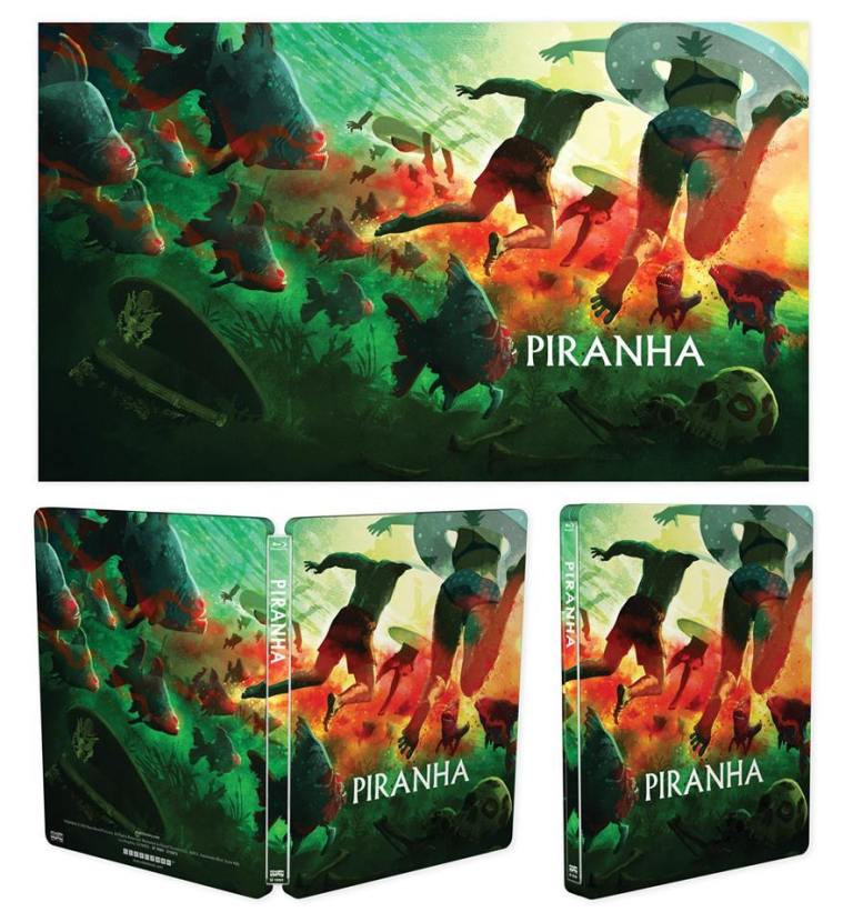 Scream Factory Piranha Steelbook 4K Scan