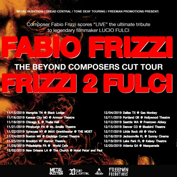 Fabio Frizzi The Beyond Composer's Cut North American Tour