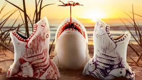 Mondo Celebrates 'Jaws' With Bruce The Shark Tiki Mugs And Enamel Pins