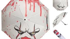 Liquid Reactive Pennywise Umbrella Gets Bloody When Rain Falls Onto It