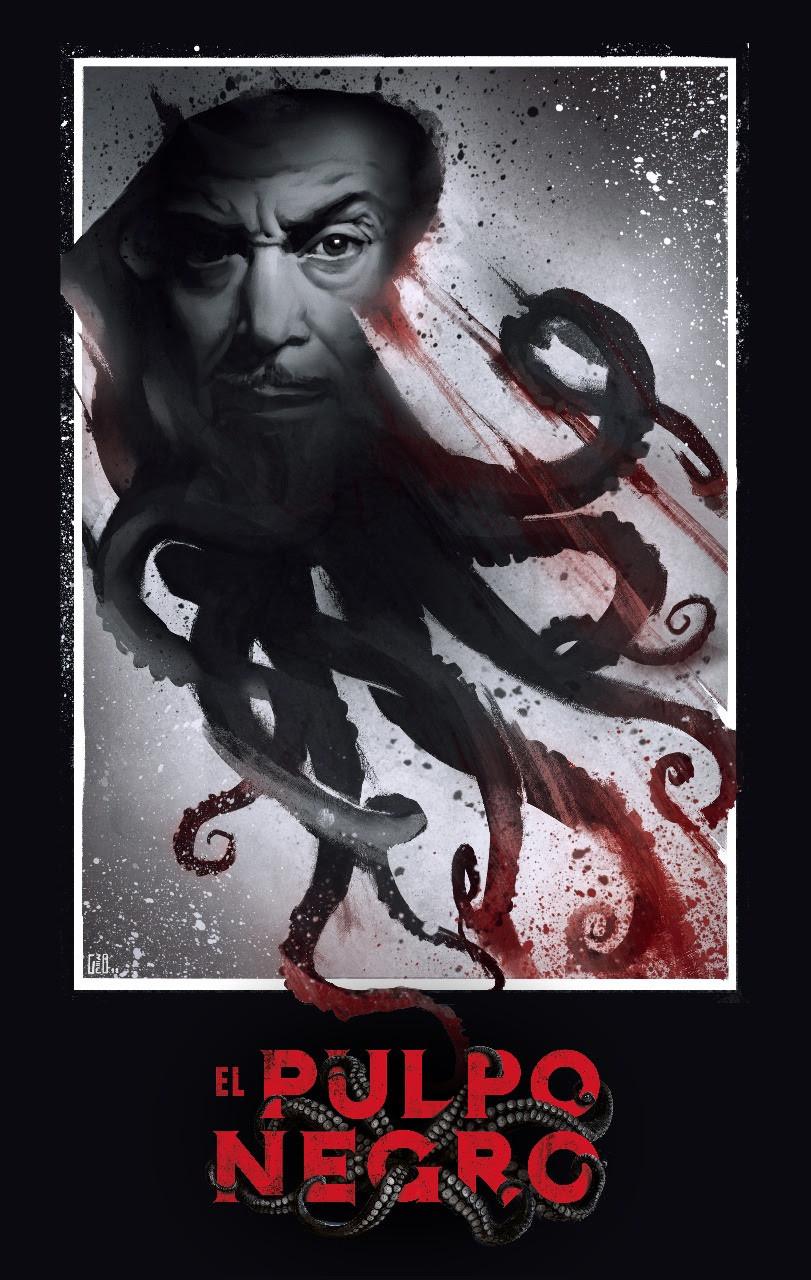 The Black Octopus El Pulpo Negro Poster Onetti