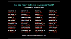Jurassic World Live Dates Announced