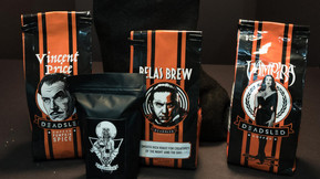 [Gift Guide] Dead Sled Coffee's Dracula, Vampira And Vincent Price Themed Brews