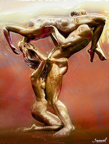 loveland-Threesome-Art erotic print