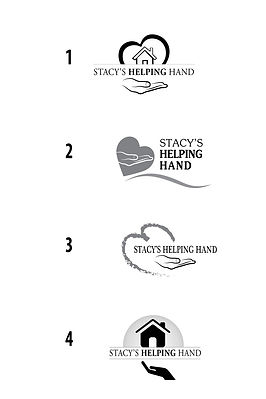Process of designing logo for Stacy's helping hand