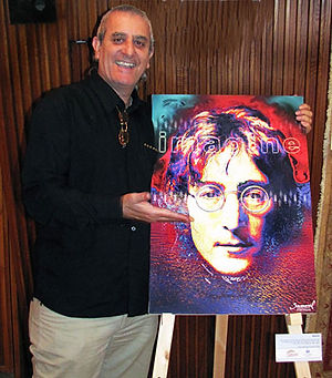 Samarel by his art of Jon Lennon